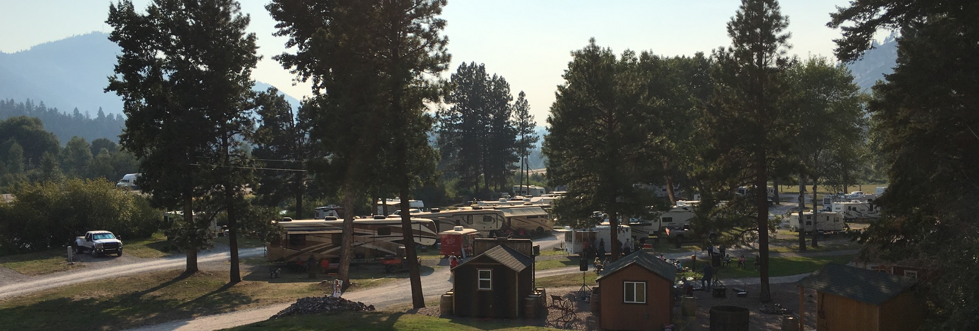 Bearmouth RV Park in Summertime