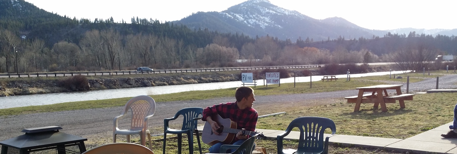 Guitar by the river